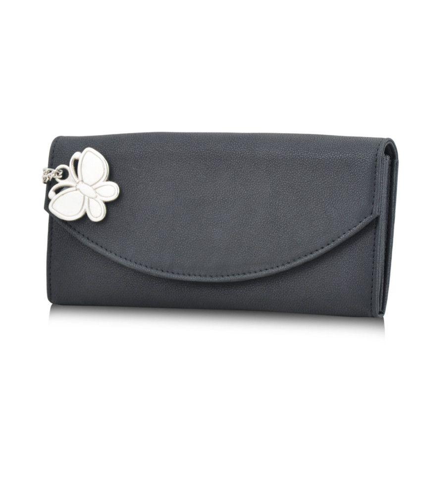 Butterflies Black Wallet