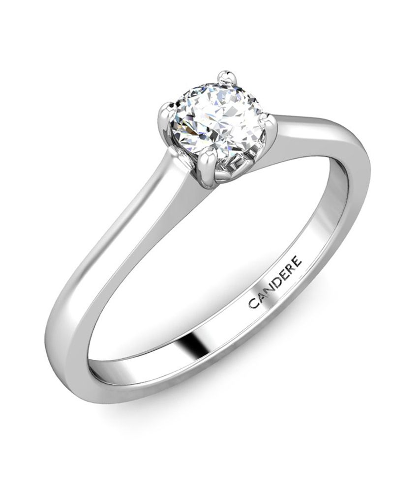 Candere Stylish Diamond Ring- White Gold