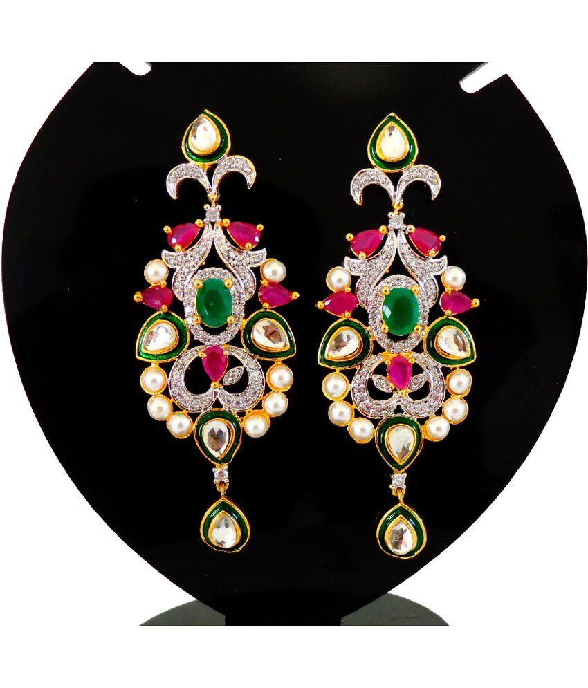 Elegance Multi Color Floral Party Wear Earrings