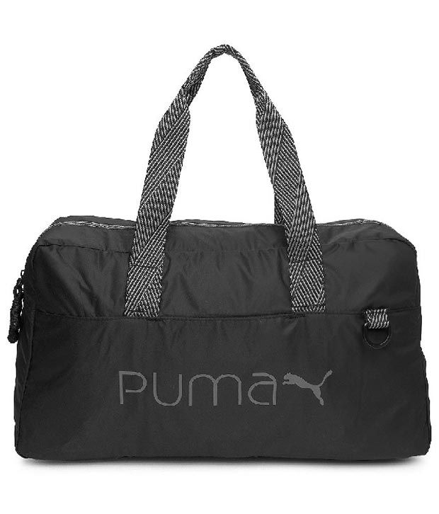 Puma Black Polyester gear Gym Bag