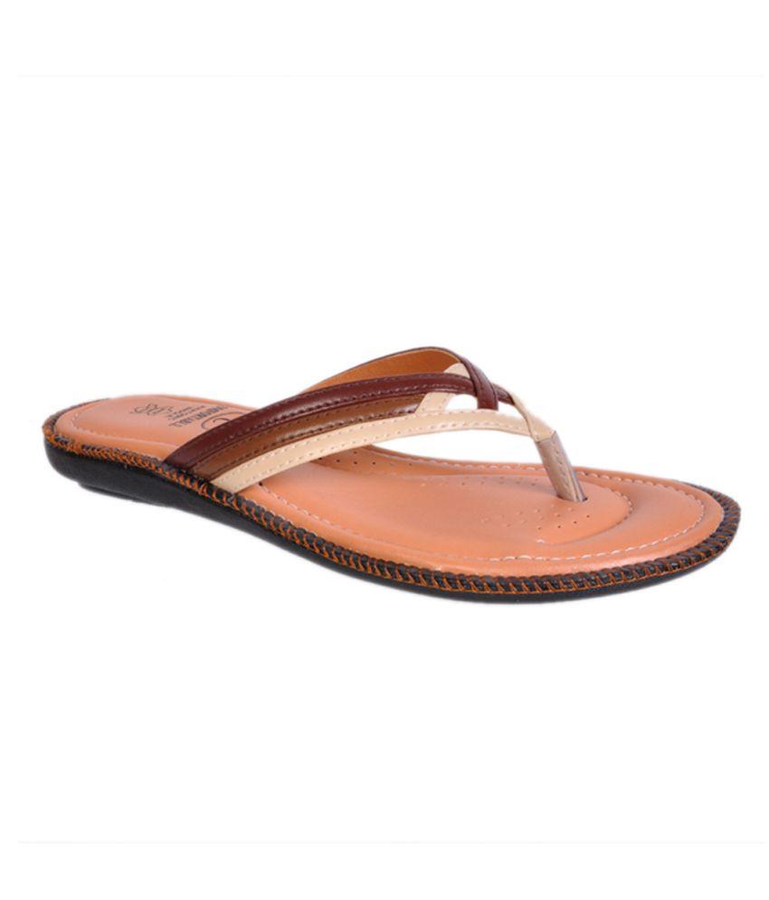 Jolly Jolla Beige Faux Leather Comfort Flat Slip-on