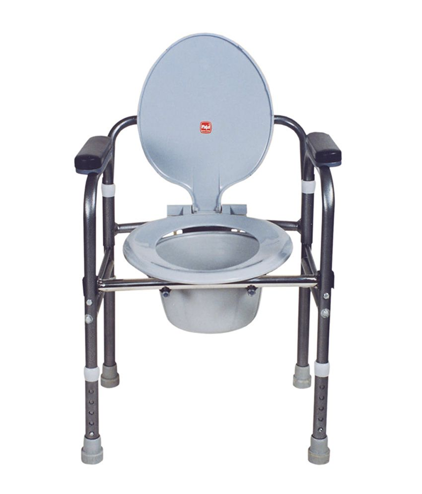 Folding commode chair - Commode Chair Aluminium Folding Height Adjustable