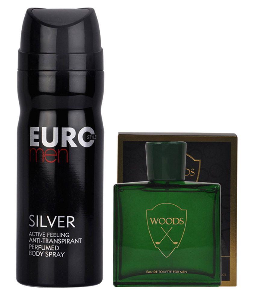 Helios Men Green Woods Perfume & Silver Deodorant Gift Set