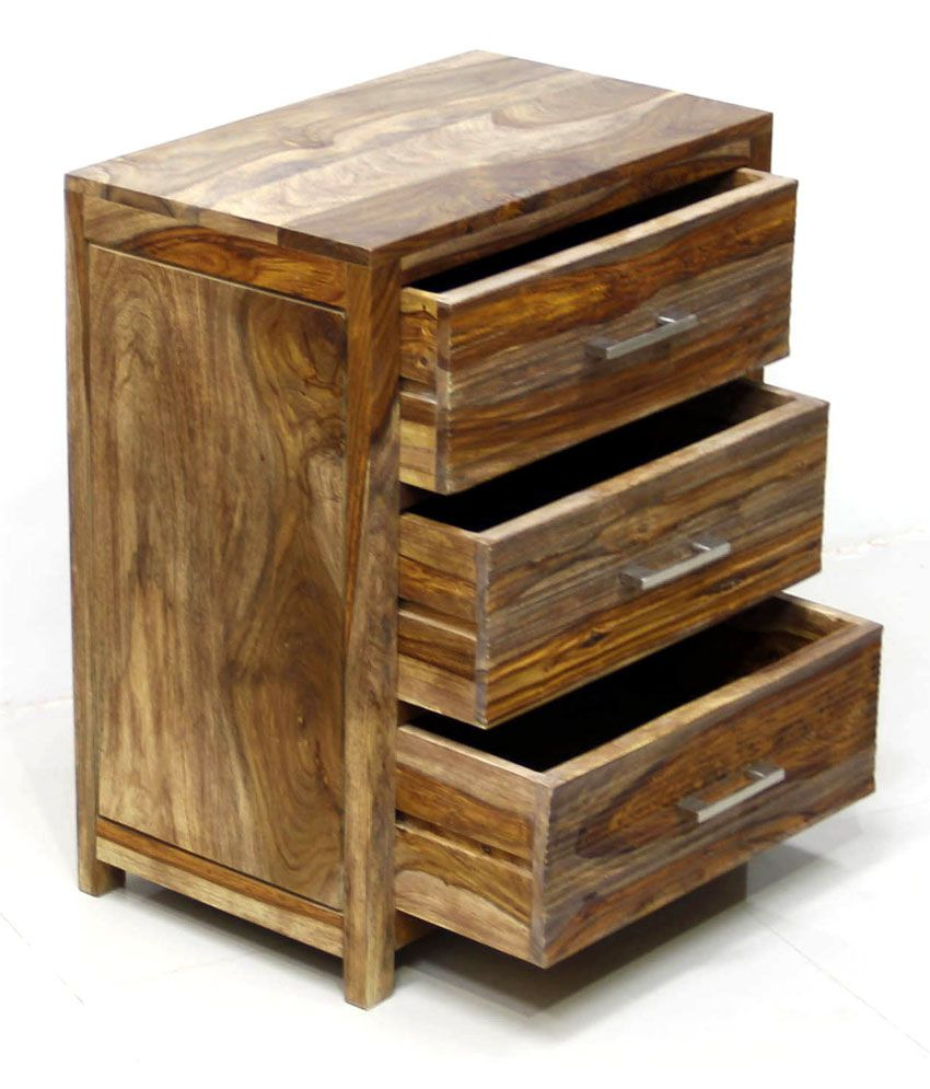 Junglewood Wave 3 Draw Multipurpose Side Table