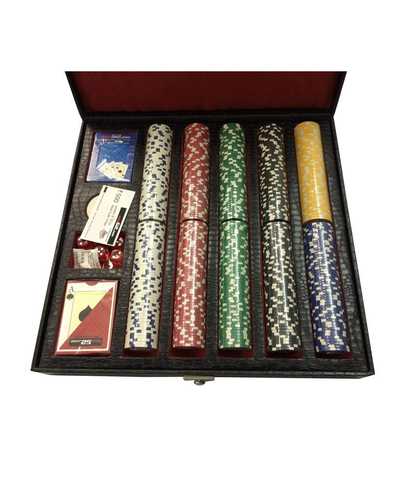 Leatherite Diced 500 Poker Chip Set Toy