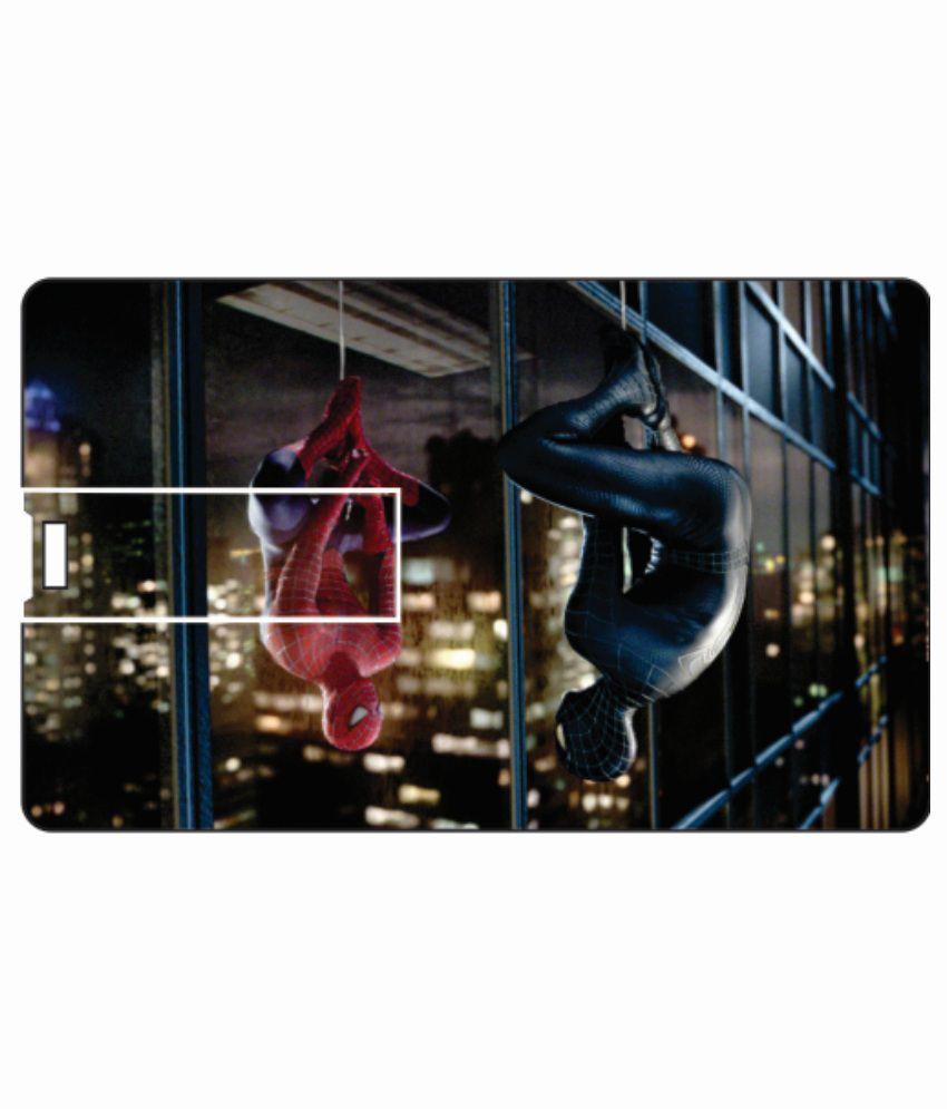 Printland Hanging Spiderman 4 GB Card 4 GB Pen DrivesMulticolor