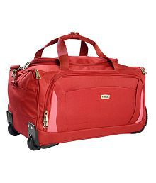 Timus Morocco 55 Cm Red 2 Wheel Duffle Trolley For Travel (Cabin Luggage)