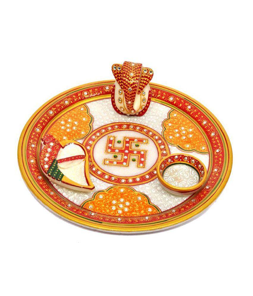 Aura Handicraft Home Decor Pooja Thali Buy Aura