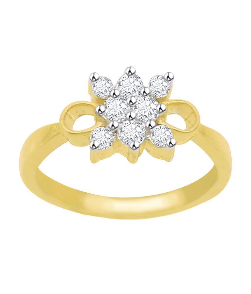 Diagold 18kt Gold Designer Diamond Ring