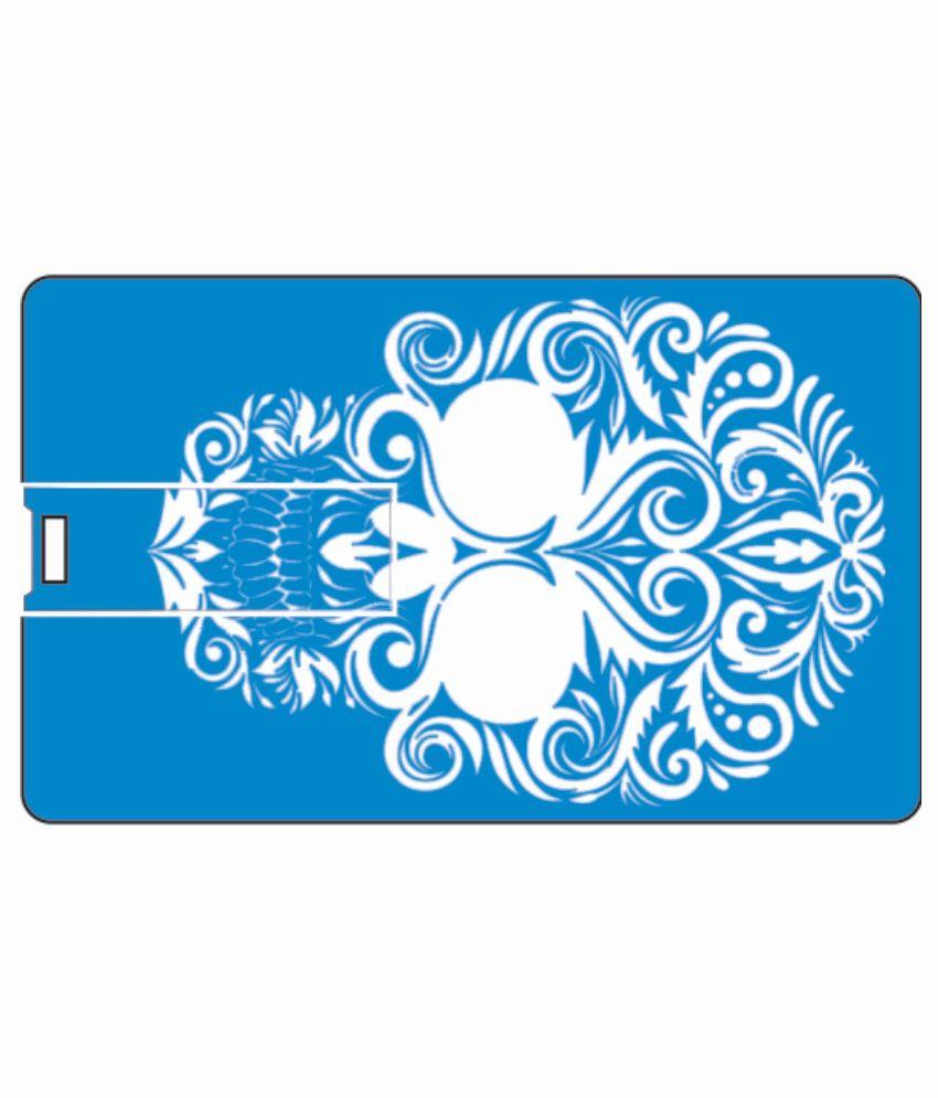 Printland blue skull 4GB Card 4 GB Pen DrivesMulticolor