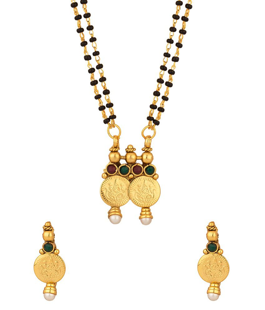 Voylla Charming Double Chain Coin Collection Mangalsutra Set