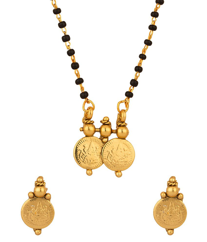 Voylla Delicate Single Chain Coin Collection Mangalsutra Set