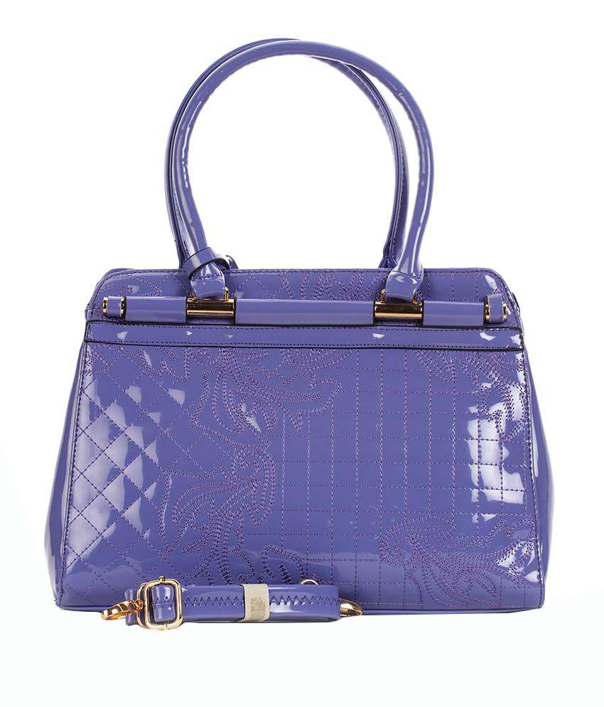 Eleegance 379-PURPLE Purple Satchel Bags