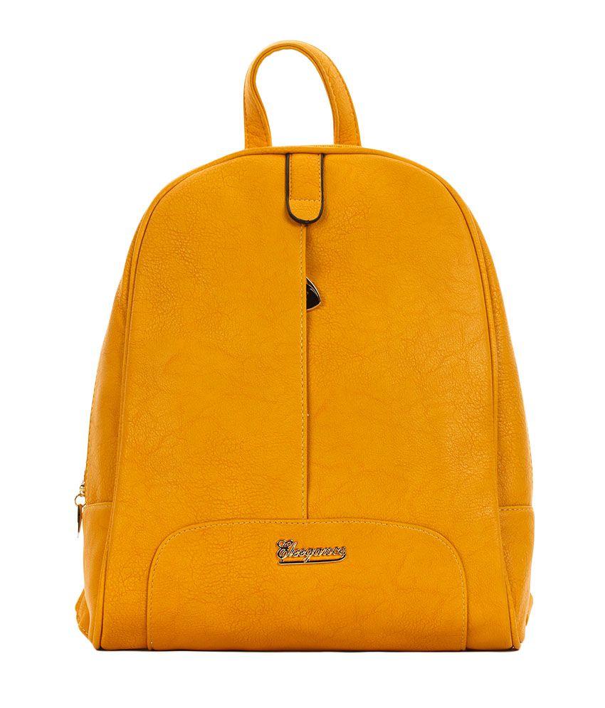 Eleegance 495-YELLOW Yellow Backpacks