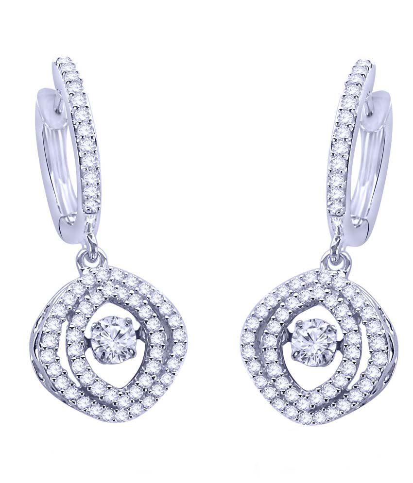 Jewel Creation Heart Beat Dancing American Diamond Ear