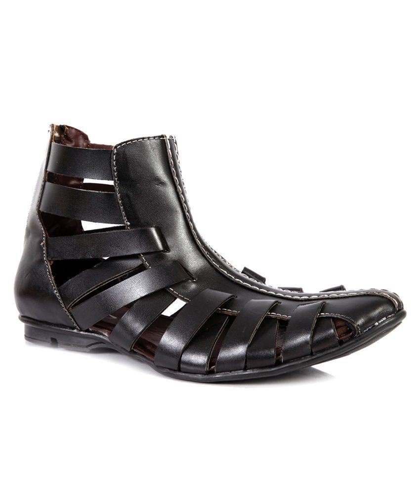 7a167c93bed King Step Black men Gladiators Sandals Price in India- Buy King Step Black  men Gladiators Sandals Online at Snapdeal