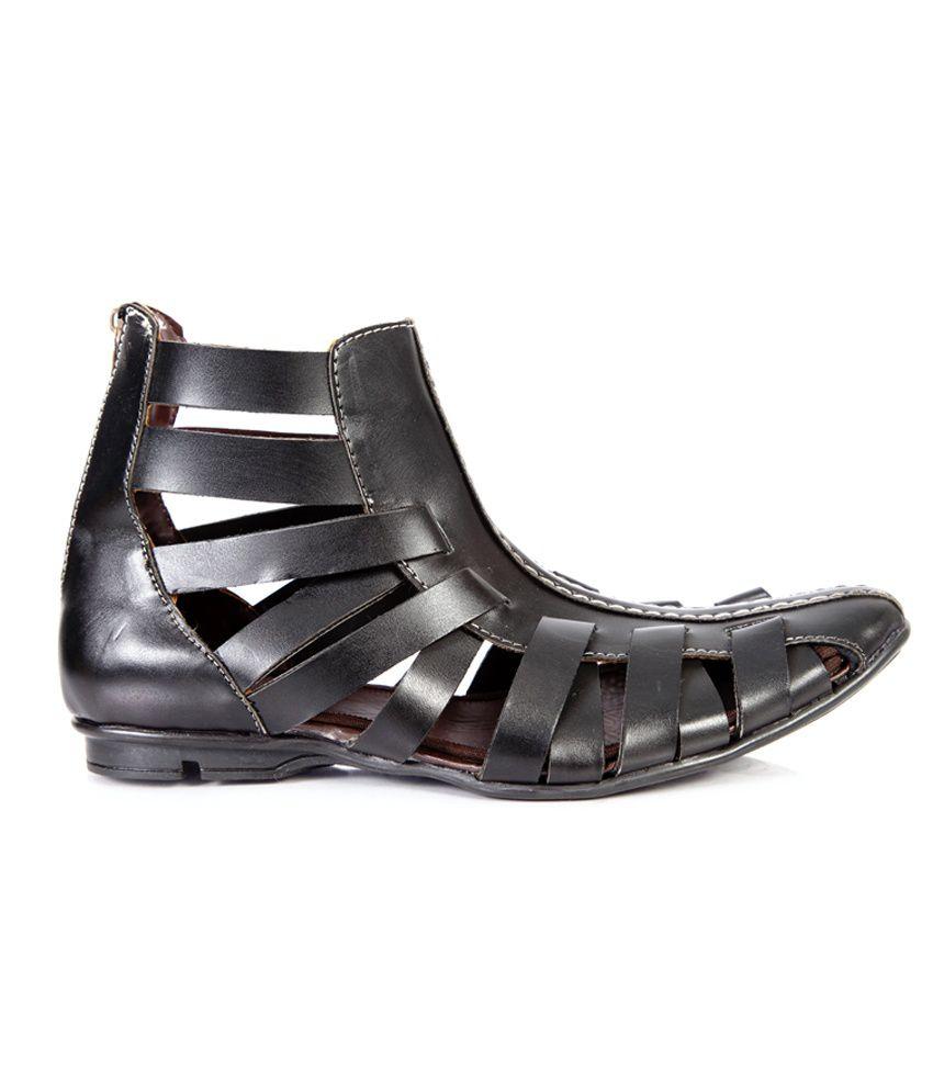 King Step Black men Gladiators Sandals