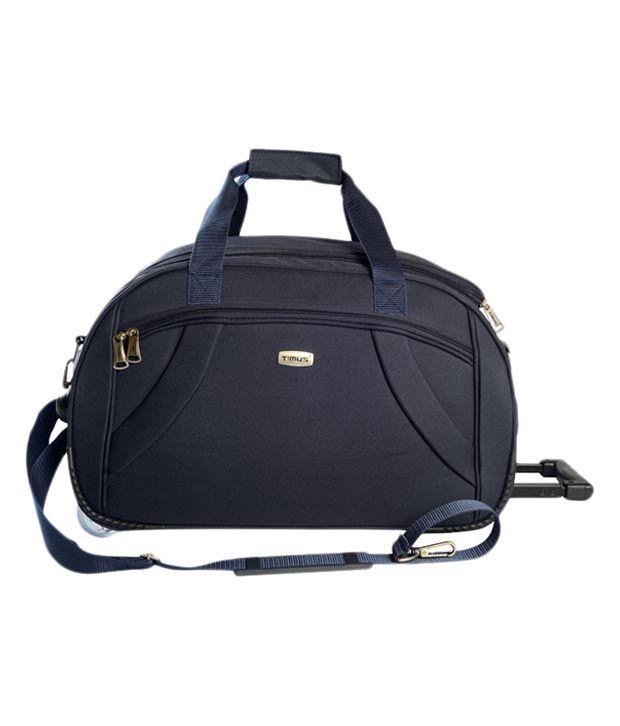 Timus Samprass 65 Blue Wheel Duffle Luggage Trolley Bag