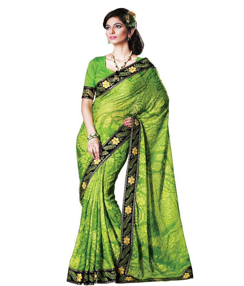 22e4dcdb79 Vastralaya Peacock Green Color Brasso Pattern Designer Fancy Saree With  Blouse Piece - Buy Vastralaya Peacock Green Color Brasso Pattern Designer  Fancy ...