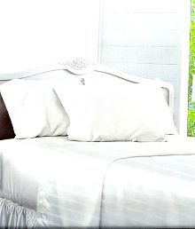 eb9eae89b6 Quick View. Bombay Dyeing White Stripes Cotton Double Bedsheet With 2 ...