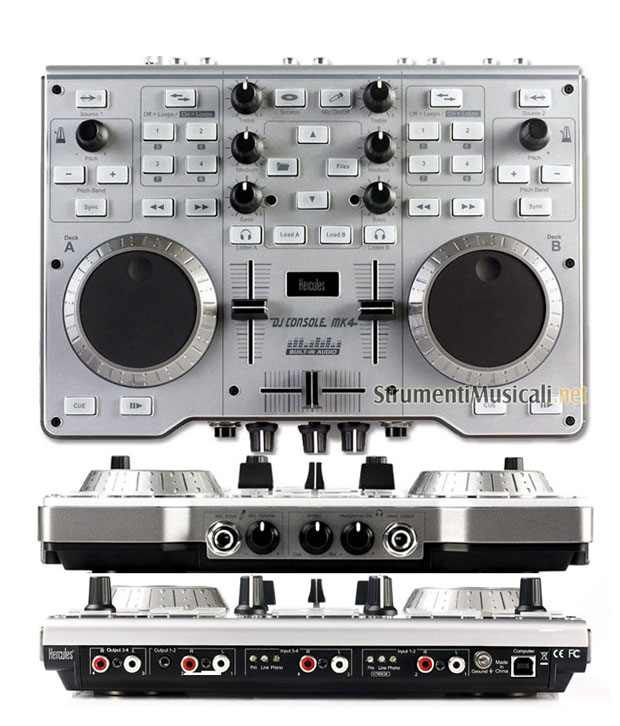 buy hercules djconsol mk4 mobile dj controller with built in audio rh snapdeal com