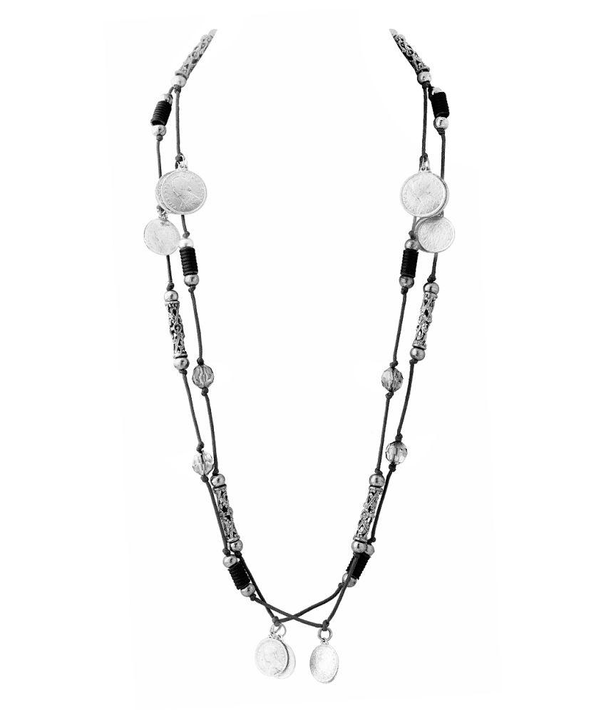 Voylla Glamorous Long Chain Statement Necklace