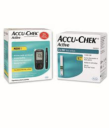 Accu-Chek Active Blood Glucose Monitor with 100 Test Strips Combo with Expiry Jan -2020