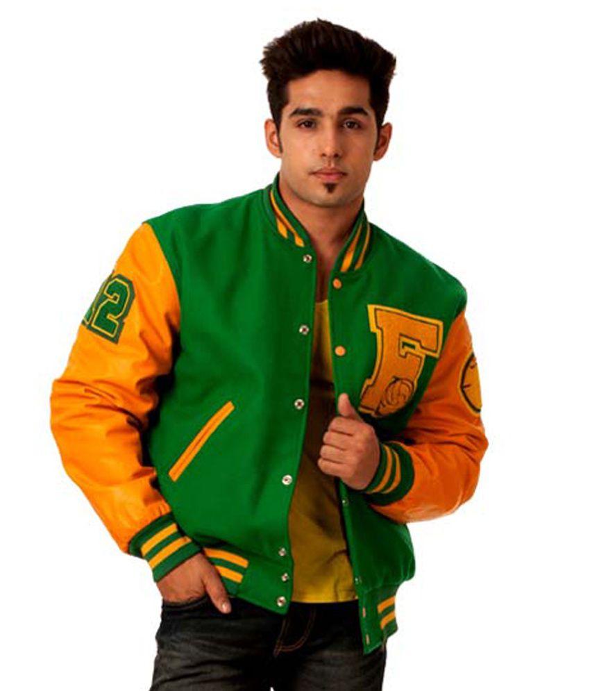 Caliber India Letterman Varsity Multicolored Baseball Jacket - Buy