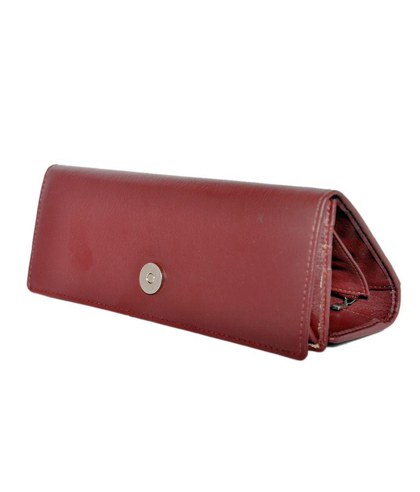 Lee Italian Elegant Maroon Wallet For Women