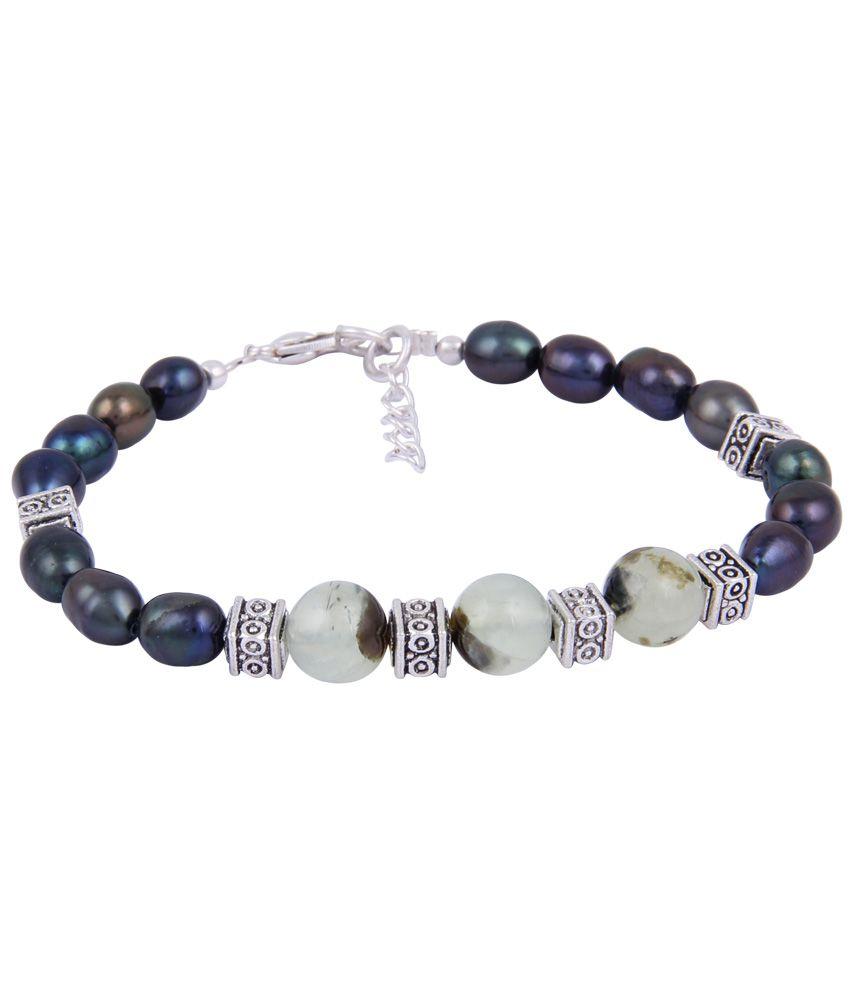 Pearlz Ocean Deep Lustre Blue Bracelet