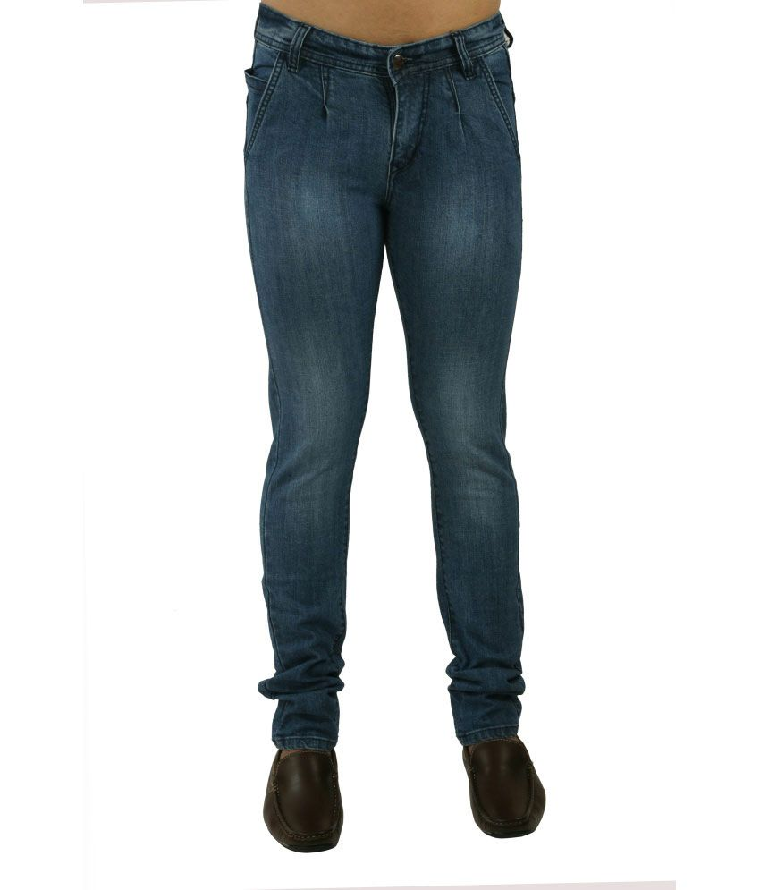 Picador Blue Cross Pocket With Green Strip Jeans