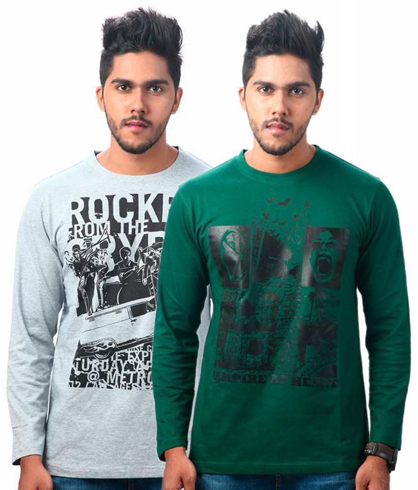 Tekki Grey-green Pack Of 2 T Shirts