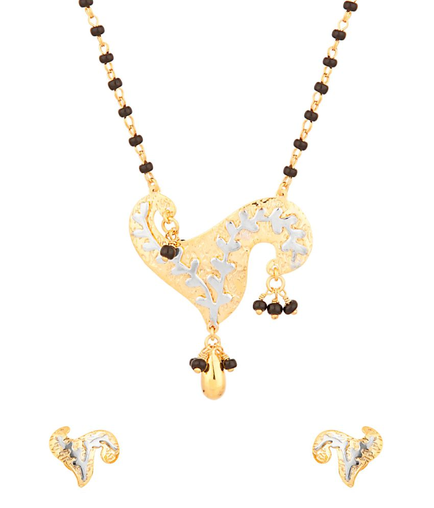 Voylla Single Chain Mangalsutra Set With A Drop