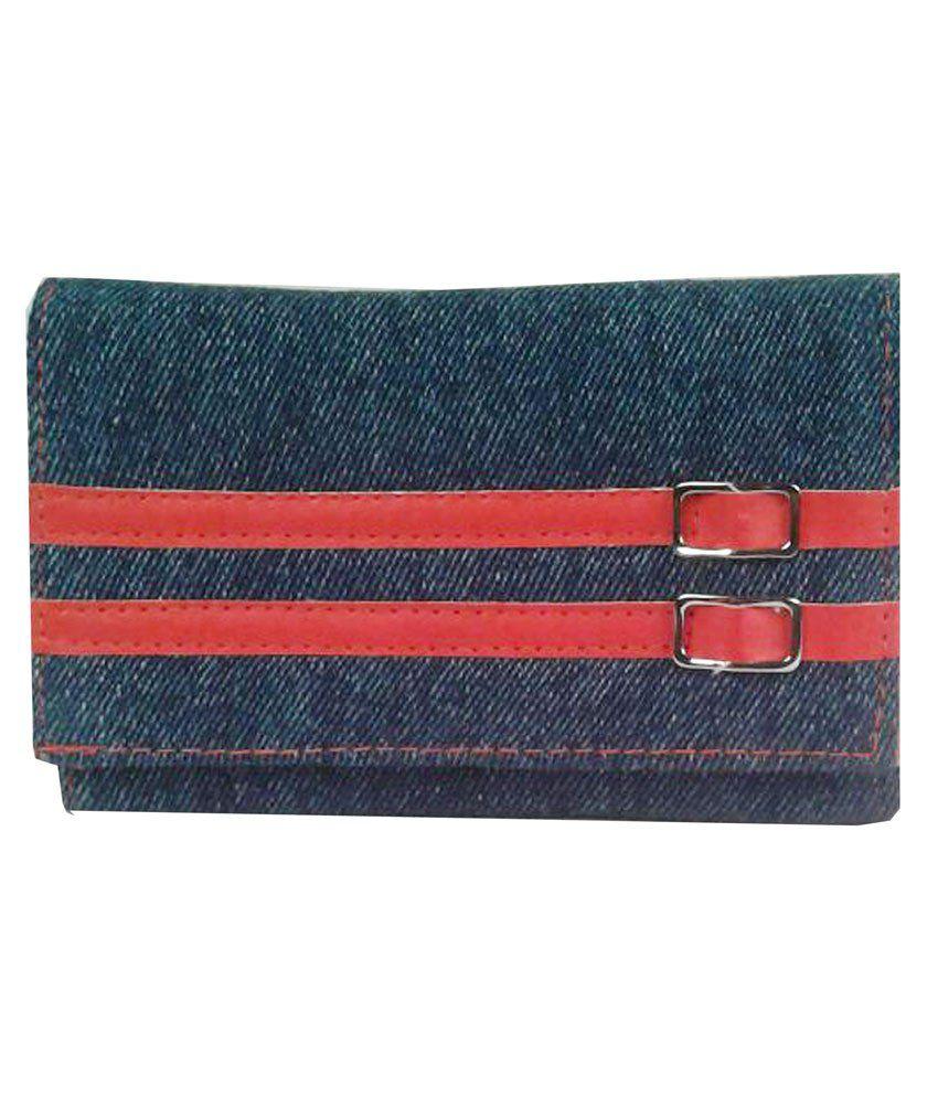 Cappuccino 50261_blue & Red Regular Wallet