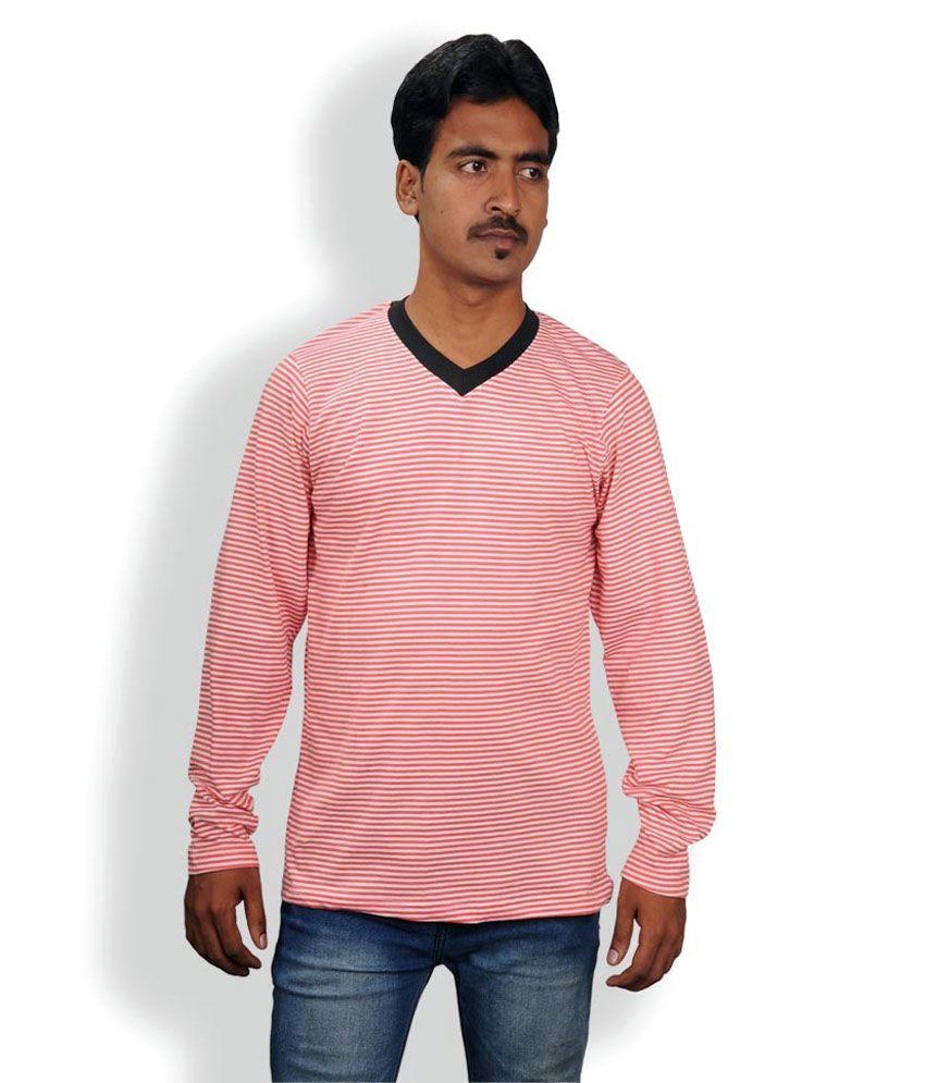 Aaron Paul V-Neck Strips T shirt