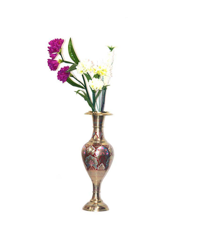 243 & Craftghar Brass Flower Vase 23 Inch: Buy Craftghar Brass ...