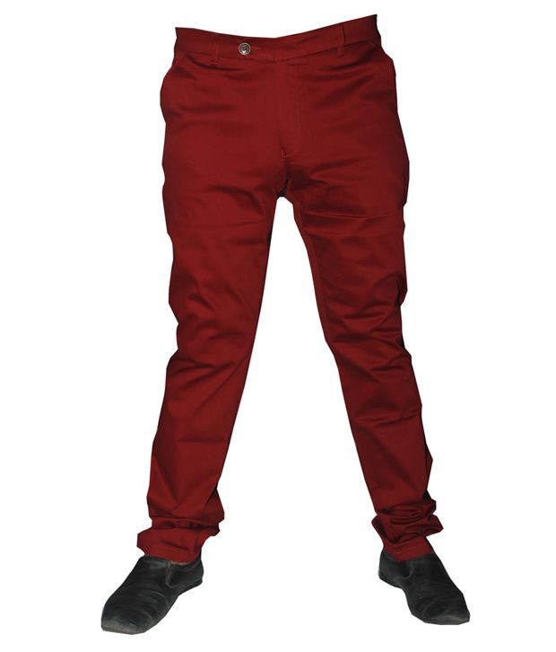 Macrame Red Straight Fit Jeans