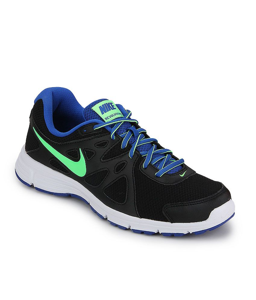 cf512083af7 Nike Revolution 2 Msl Black Running Shoes - Buy Nike Revolution 2 Msl Black  Running Shoes Online at Best Prices in India on Snapdeal