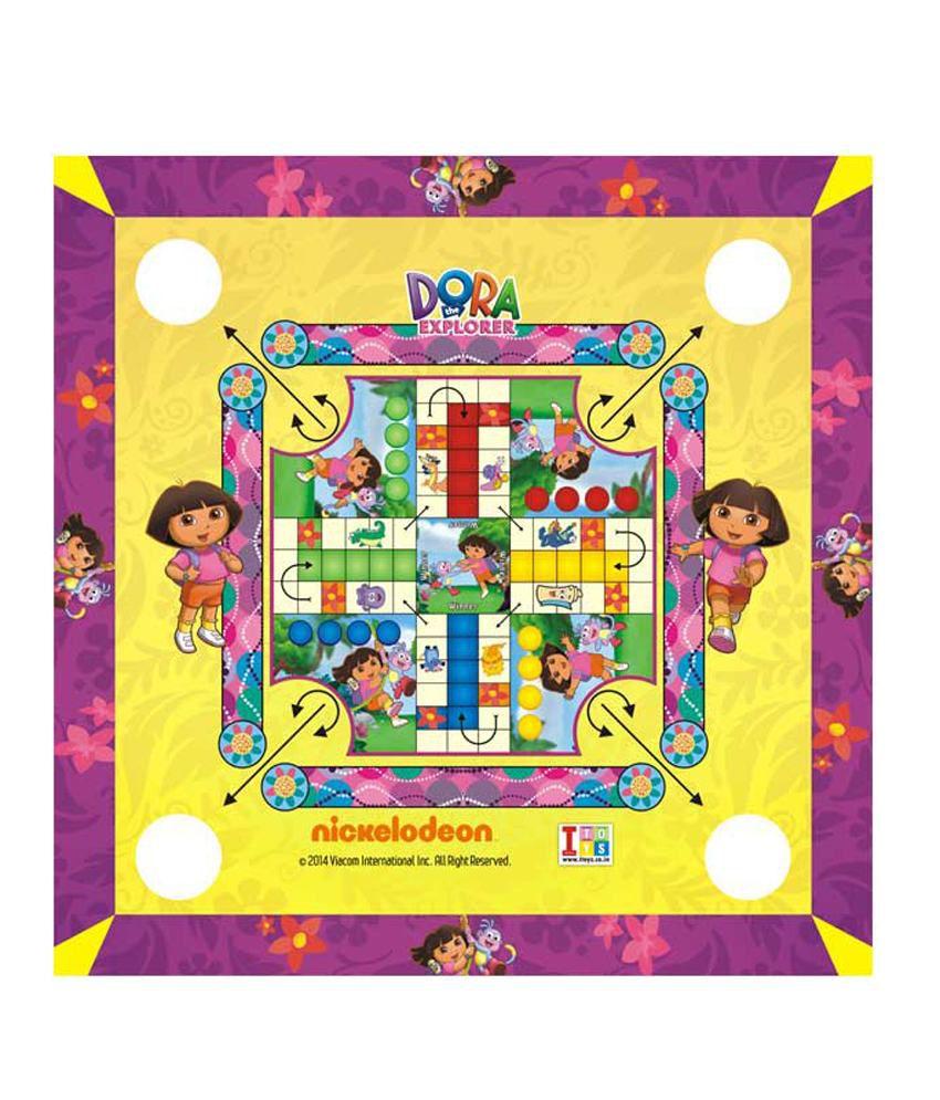 Dora The Explorer Carrom Board cum Ludo