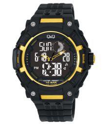 Q&q Analog-digital Rubber Strap Watch For Men