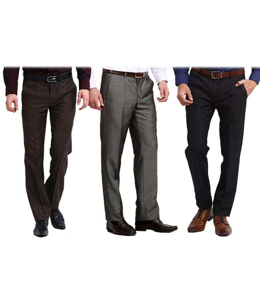 Club Van Gogh Black Formal Trouser Pack Of 3