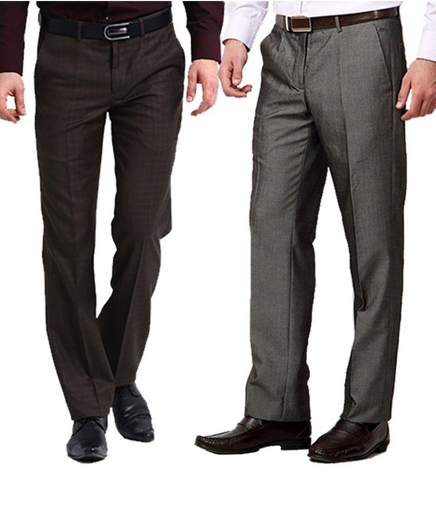 Club Van Gogh Brown Formal Trouser Pack Of 2