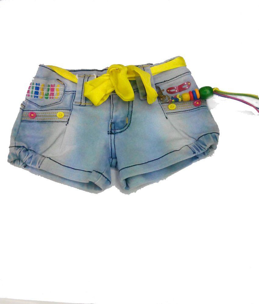 Piggy N Wiggy Sky Blue Shorts For Girls
