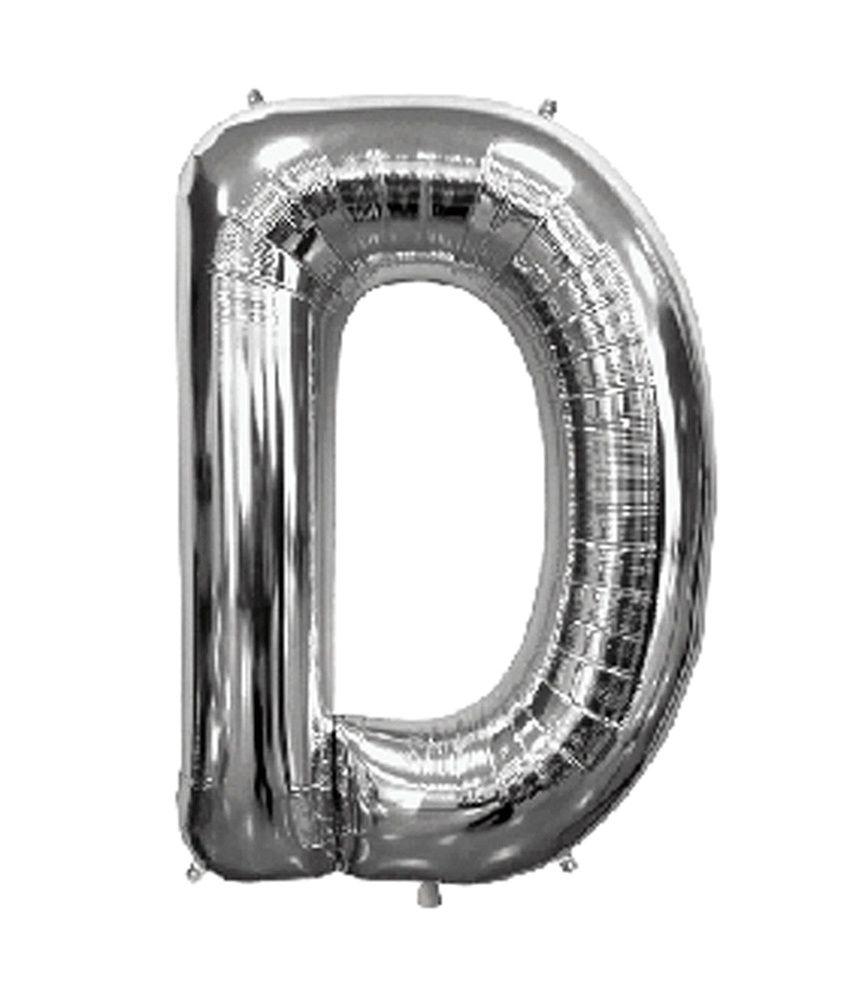 Alphabet Foil Silvers: Dholdhamaka Alphabet Letter D Silver Foil Balloon 14