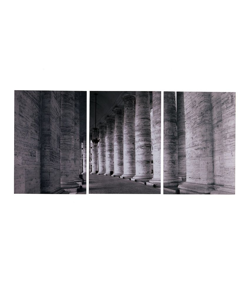 Fennel Frameless Gray Laminated Print Pillars Painting