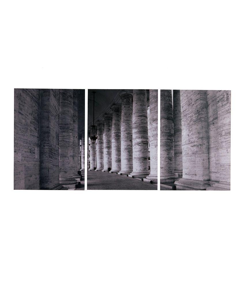 Fennel Frameless Gray Laminated Print Pillars Painting