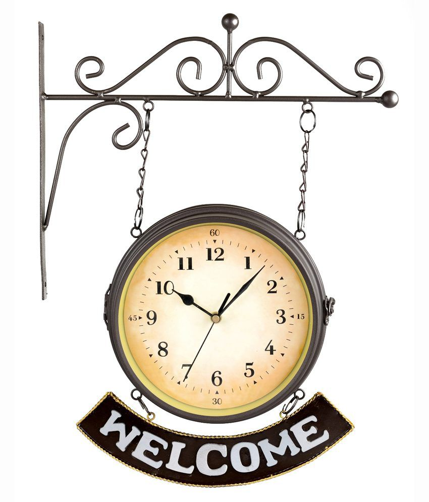 Lifestyle You Antique Vintage Double Sided Wall Clock 8