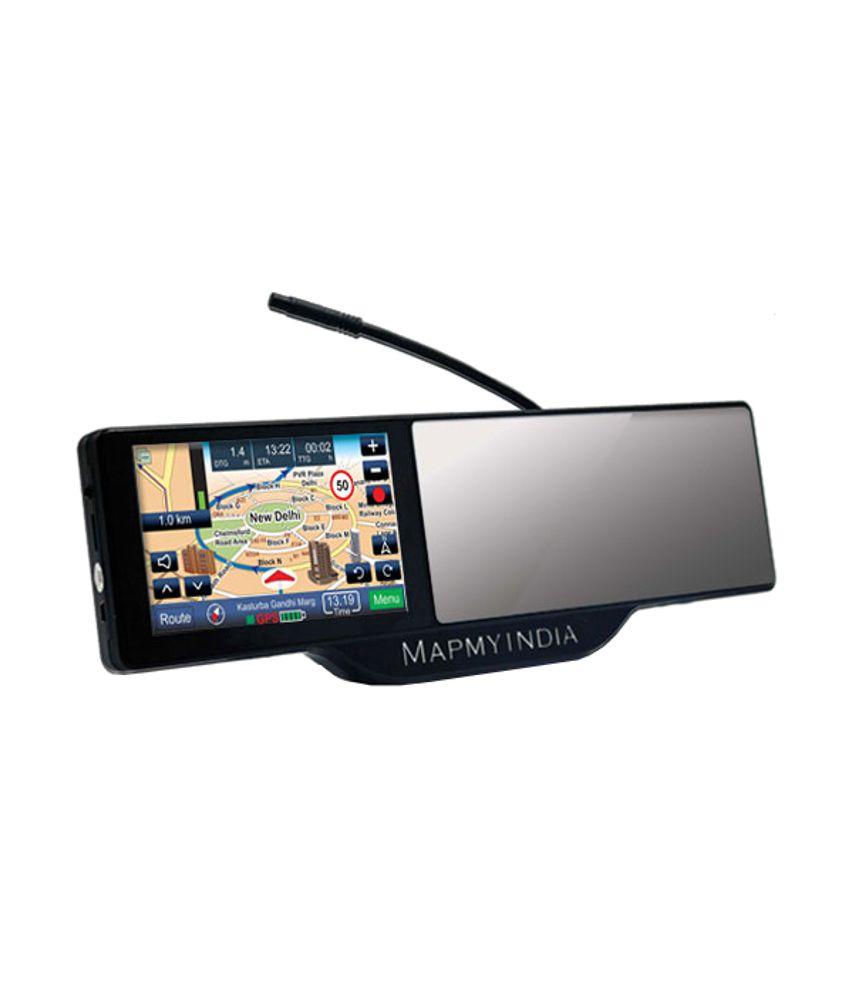 MapmyIndia SmartMirror 100 Rear View Mirror with