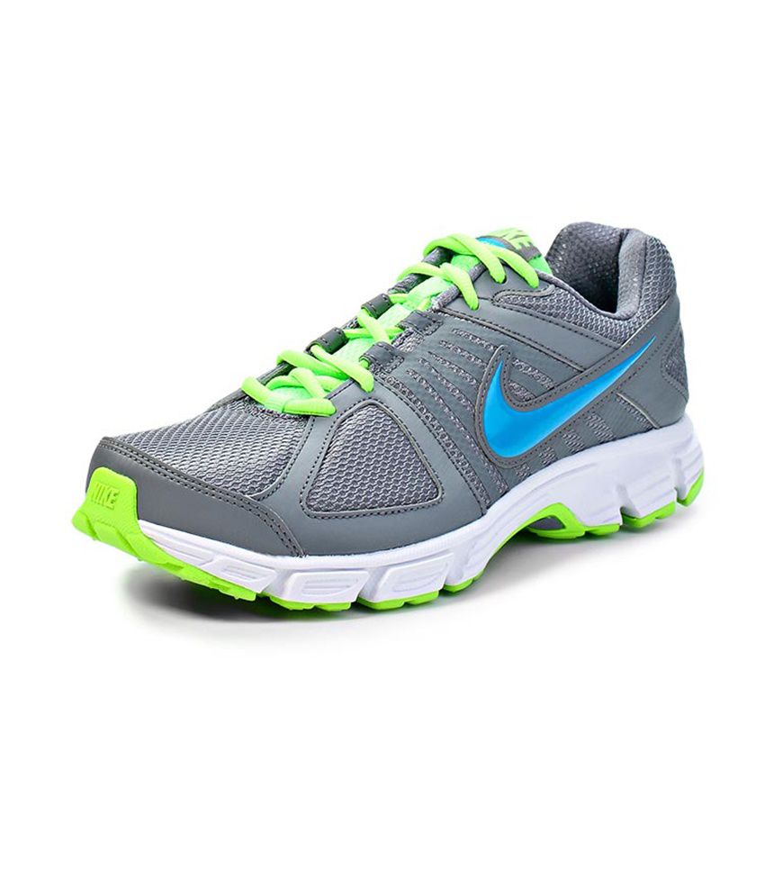 ... Nike Downshifter 5 Msl Men Sports Shoes - Gray Blue And Green Colour ... 76ab843855