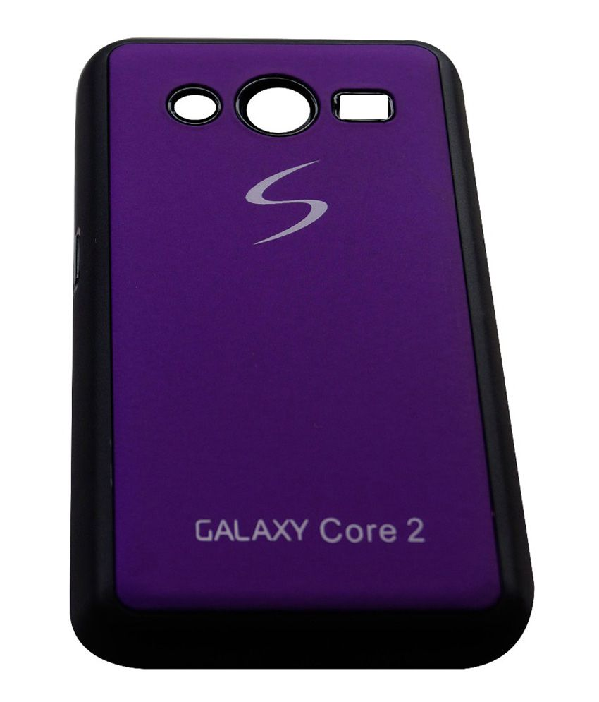 best sneakers 26b3b 2c494 Oe Back Cover Cases For Samsung Galaxy Core 2 Sm-355h - Purple
